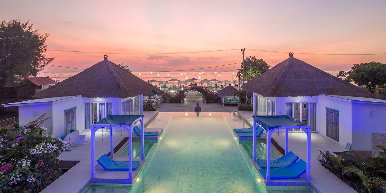 Villa Gili Bali Beach Stunning Beach Front Villa In The Gili Trawangan Islands